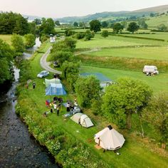 Bwch Yn Uchaf campsite near Bala in North Wales #camping #campsites