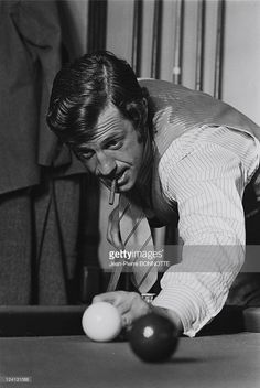 On the set of 'Borsalino' by Jacques Deray In Marseille, France In 1970 - Jean-Paul Belmondo.