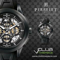 Perrelet Chronograph Rattrapante... Find it soon at our website for only $7950!!! by club_timepiece
