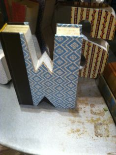 """Book letters They have these at Hallmark!  I want an """"M""""!!"""