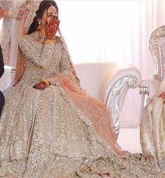 pakistani wedding dresses Gorgeous jacket style bridal lehenga with zarkan work all over. Asian Bridal Dresses, Pakistani Wedding Outfits, Indian Bridal Outfits, Pakistani Bridal Dresses, Pakistani Wedding Dresses, Pakistani Dress Design, Indian Dresses, Pakistani Clothing, Bridal Hijab