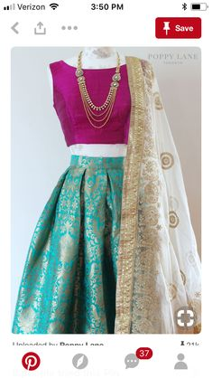 The Stylish And Elegant Lehenga Choli In Teal Green Colour Looks Stunning And Gorgeous With Trendy And Fashionable Raw Silk Brocade Fabric Looks Extremely Attractive And Can Add Charm To Any Occasion. Mode Bollywood, Bollywood Fashion, Indian Attire, Indian Wear, Pakistani Dresses, Indian Dresses, Pakistani Bridal, Indian Clothes, Indian Bridal