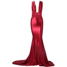 Red Evening Gown (325 AED) via Polyvore featuring dresses, gowns, sexy cocktail dresses, evening dresses, sexy evening gowns, formal evening dresses and red formal dresses