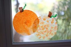 Coffee Filter 'Stained Glass' Pumpkins - Pinned by @PediaStaff – Please visit http://ht.ly/63sNt for all (hundreds of) our pediatric therapy pins