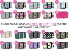 Which ThirtyOne Large Utility Tote would you choose?