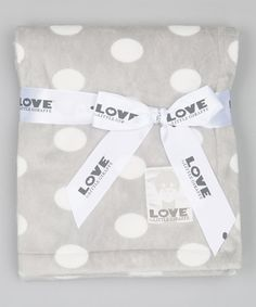 Look what I found on #zulily! 30'' x 36'' Silver Silky Dot Baby Blanket #zulilyfinds