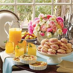 How pretty is this table for a late morning wedding shower or brunch. Source: Southern Living