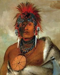 George Catlin's Indian Gallery WA HON GA Shee 'No Fool' Fine Art Print | eBay