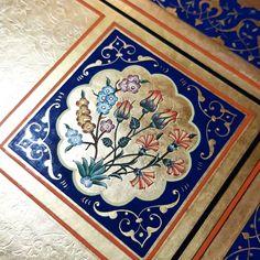 A wonderful work by with an impressive assuredness and authority. Turkish Art, Turkish Tiles, Islamic Art Pattern, Pattern Art, Mandala, Arabic Design, Gcse Art, Egg Decorating, Illuminated Manuscript
