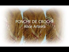 Artesanato Alice Arteira : PONCHE DE CROCHÊ - CROCHÊ PARA CANHOTOS