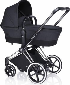 Cybex Priam Carry Cot in Black Beauty as seen on Keira Knightley