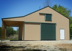 Metal barn kits on pinterest metal barn barn kits and for Build your own pole barn