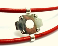 4 connector finding silver color for leather cord by frameyourbag, €3.99