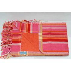 Kikoy Strandhanddoek 'Amboseli' stripes orange | Kikoy Stranddoeken | HAMAMdoeken.com