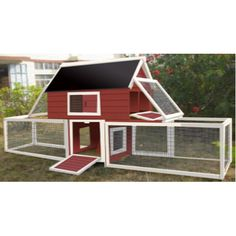 Features: -Ideal for 2-3 chickens. -Handy storage compartments. -Easily accessible for double nesting box. -No pull out tray. -Note: The item and the wood used is intended to be outdoors and is n
