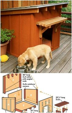 Doggie Ranch - 15 Brilliant DIY Dog Houses With Free Plans For Your Furry Companion