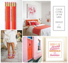 Amanda Catherine Designs 'Color Combo of the Week' post. Pencils & Print available in Amanda Catherine Designs Etsy shop