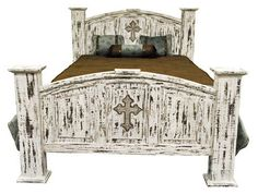 White Rustic Bedroom Furniture white scrape chest w/cross | rustic furniture | western furniture