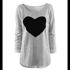 Long sleeves T-shirt Asian XL. Please see picture 2 for measurements. ***Firm*** Thanks Shopbedazzle Tops Tees - Long Sleeve