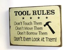 Fathers Day Gift Sign for Dad Wooden Sign Tool by Woodticks