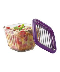 Eggplant Two-Cup Bake 'n' Store Storage Container & Lid #zulilyfinds Just ordered it.  I like that I can bake or microwave in it.