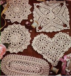 doiles awww moms use to make these still have em too awww we use it as a table top to display something