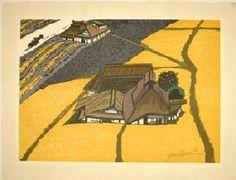 Oiso Artist:Jun-Ichiro Sekino woodblock print 1972