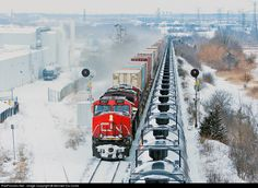 RailPictures.Net Photo: CN 2527 Canadian National Railway GE C44-9W (Dash 9-44CW) at Vaughan, Ontario, Canada by Michael Da Costa