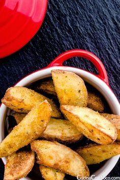 Patatas deluxe caseras - Receta paso a paso Veggie Recipes, Indian Food Recipes, Kitchen Recipes, Cooking Recipes, All U Can Eat, My Favorite Food, Favorite Recipes, Good Food, Yummy Food