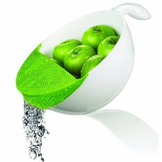 Wash your fresh produce and drain them easily without having most of them fall into the sink.
