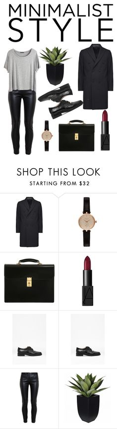 """Minimalist"" by mirandarenwick ❤ liked on Polyvore featuring Barbour, OHBA, NARS Cosmetics, French Connection, Balenciaga and Chicnova Fashion"