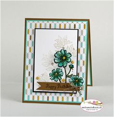 Stampin Up Bloom with Hope for Stamping and Blogging, card by Sandi @ www.stampingwithsandi.com