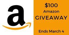 Enter for a chance to win a $100 Amazon eGift Card. Giveaway ends on March 4!