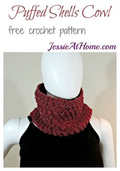 Puffed Shells Cowl - free crochet pattern by Jessie At Home