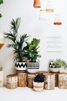Trendy decoration for back to school: 44 ideas for its interior decor - DIY Decor Ideas Diy Home Decor On A Budget, Cheap Home Decor, Diy House Decor, Trendy Home Decor, House Plants Decor, Wood Home Decor, Natural Home Decor, Wooden Decor, Pop And Scott