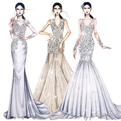 Bridal for my client! #sketching #draw #dress #drawing #bridal #weddingdress #fashion #fashionsketch #fashionsketching #fashionillustrator…