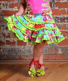 Blue Spring Garden Skirt - Infant