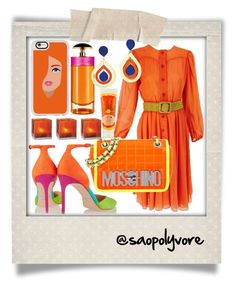Friday (19/8/2016) by saopolyvore on Polyvore featuring ファッション, Oscar de la Renta, Brian Atwood, Moschino, Casetify, Prada, Cultural Intrigue and Polaroid