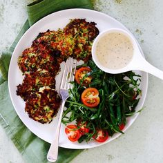 GLUTEN FREE ZUCCHINI & HALLOUMI FRITTERS WITH GREEN BEENS & ROCKET BY CARLA McMILLIAN. Being so versatile, zucchinis inspire so many amazing, healthy meals. This recipe is by Bodypass founder and nutritionist, Carla McMillan. 20 Minutes. Vegetarian. Gluten Free.