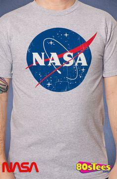 Distressed NASA Logo T-Shirt: NASA Mens T-Shirt