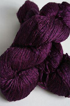Hand dyed silk yarn in plum.