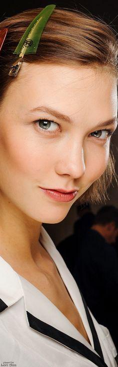 Model: Karlie Kloss for Ralph Lauren Fall 2013 Backstage