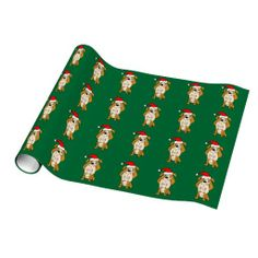 English Bulldog Christmas Wrapping Paper #english #bulldogs #Christmas #giftwrap #funny #pets And www.zazzle.com/petspower*