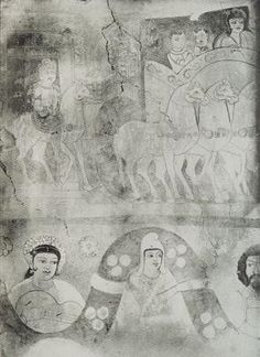https://flic.kr/p/e7EbdE | Ancient Indo-Scythian. Fresco from Stupa shrine M V (Miran, China). Stein, Aurel M. 1921. Serindia