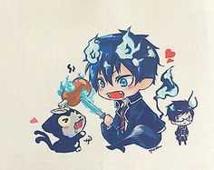 Items similar to Rin Okumura (Blue Exorcist) by Deadly Sweet on Etsy Blue Exorcist Movie, Blue Exorcist Cosplay, Blue Exorcist Anime, Ao No Exorcist, Rin Okumura, Manga Anime, Anime Art, Fan Art, Sailor Moon