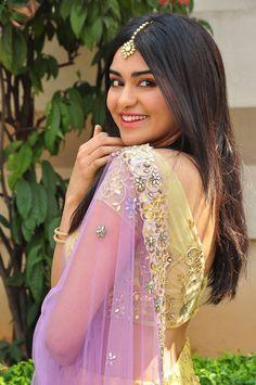 Adah Sharma Latest Hot Transparent Half Saree Spicy PhotoShoot Images At Kshanam Release Press Meet ★ Desipixer  ★