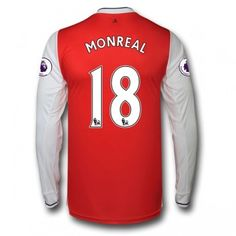 Arsenal 16-17 Nacho Monreal 18 Hemmatröja Långärmad  #Fotbollströjor