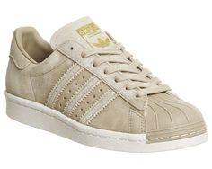 Adidas Superstar 80s Linen Khaki Suede