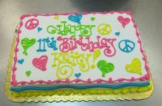 Peace and Love Birthday Cake LS1 Hy-Vee