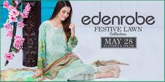 Edenrobe Festive Eid Lawn Collection 2016